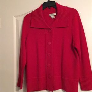 Allison Daley Sweaters - Allison Daley Red Catdigan